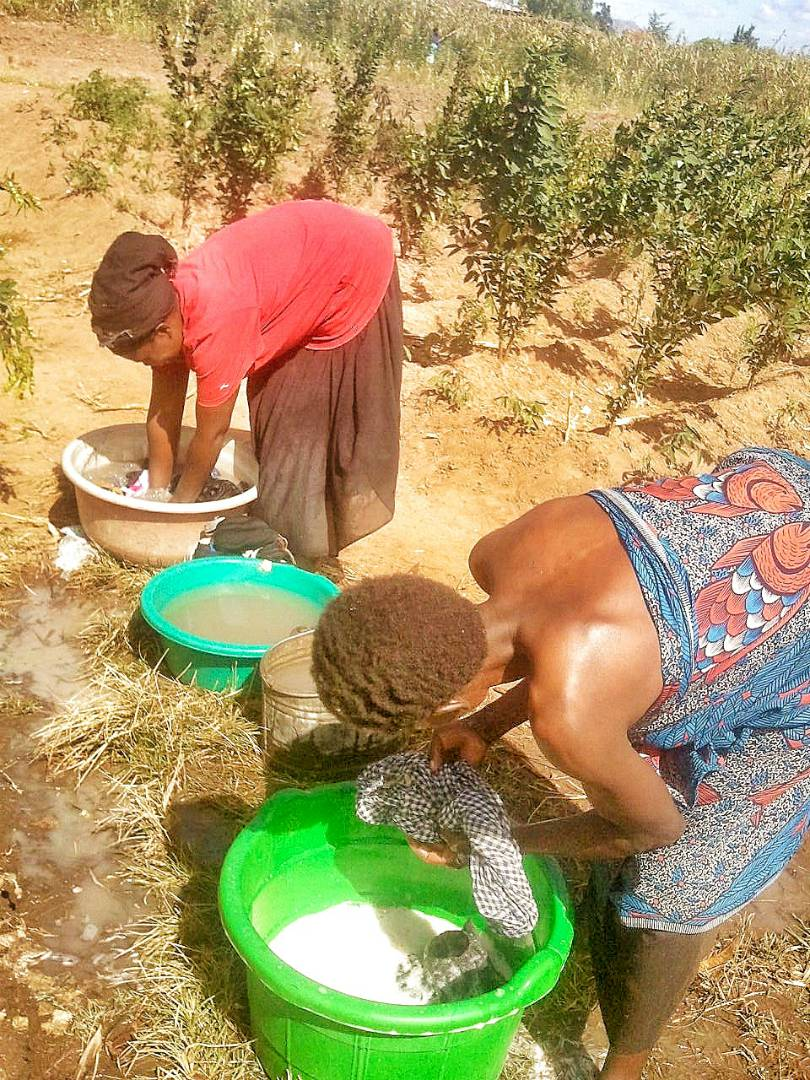 Washing with dirty water
