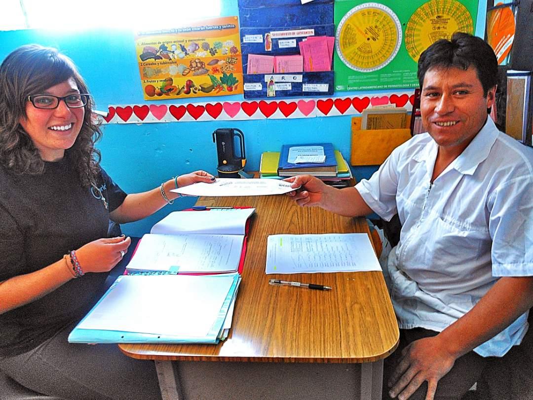 Teachers at the school