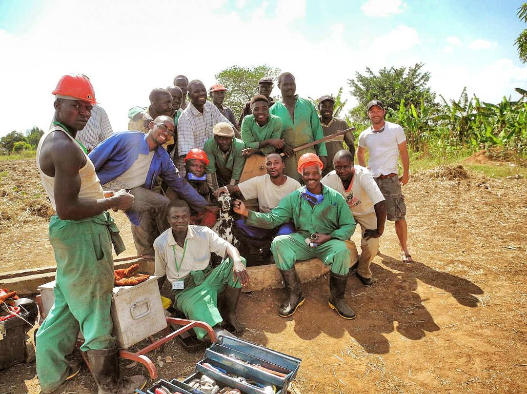 Connect Africa Borehole Repair Crew