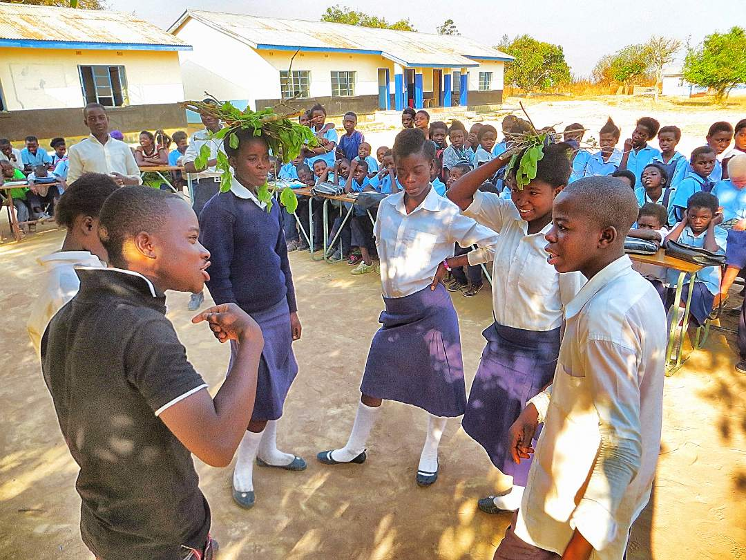 Youth at Mbaso Primary School