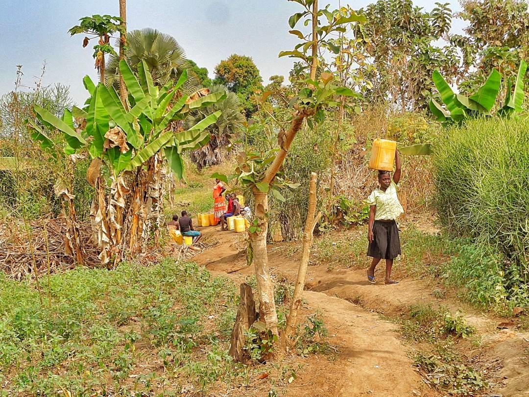 Gathering water