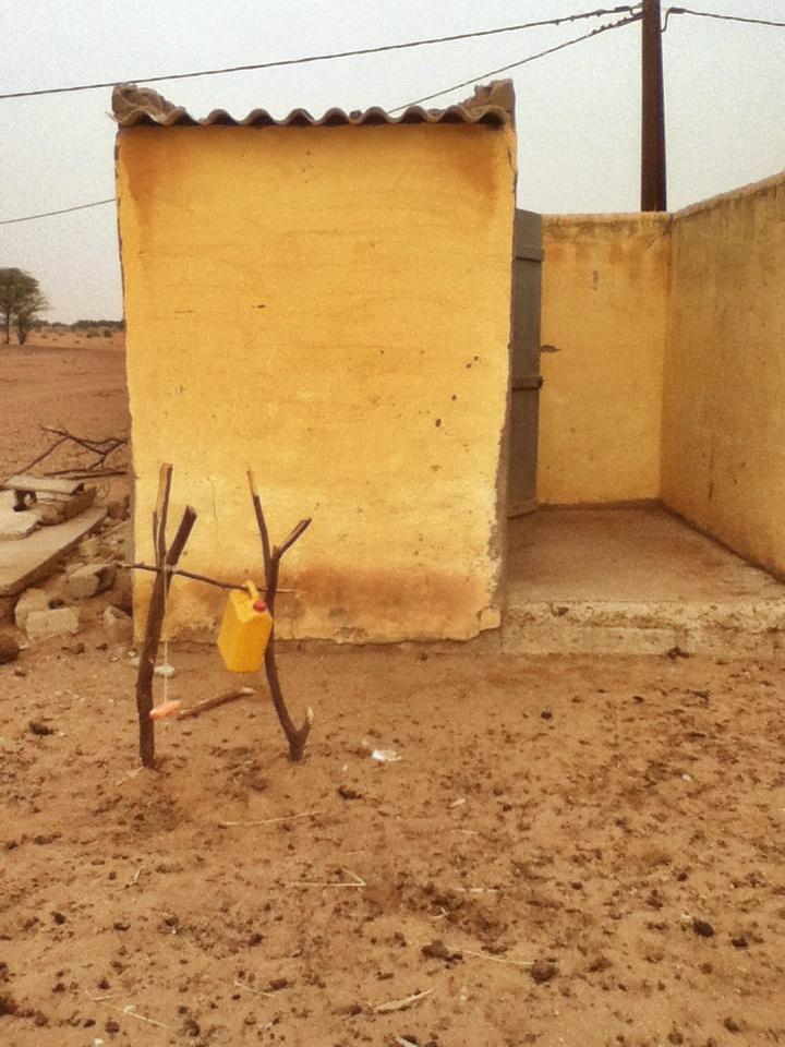 Tippy Tap setup in Northern Senegal