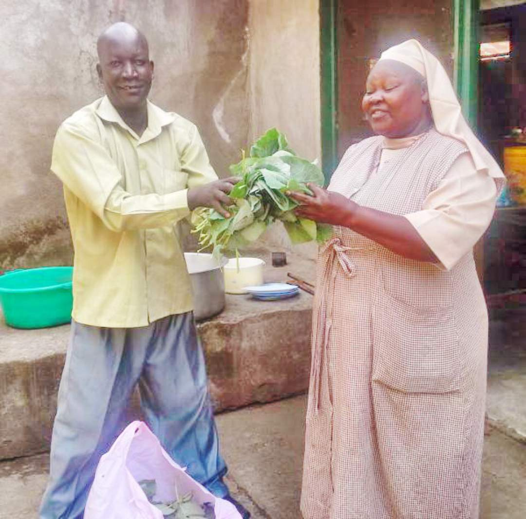Sharing crops with the school