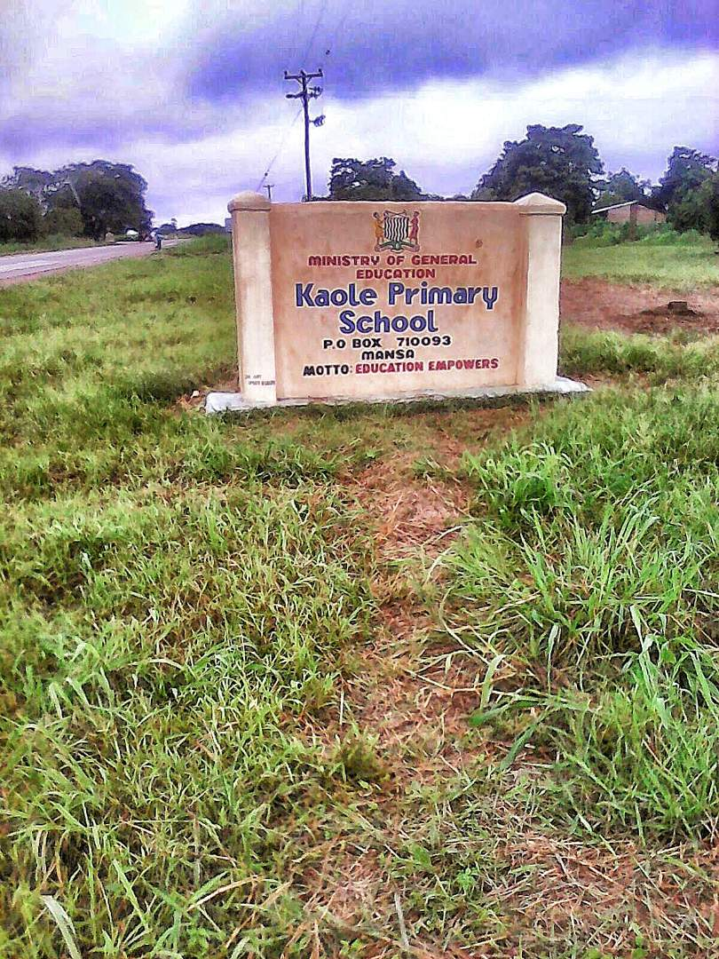 Kaole Primary School Sign