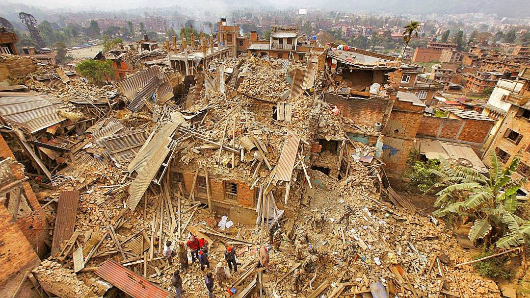 Destruction in Nepal's Kathmandu Valley