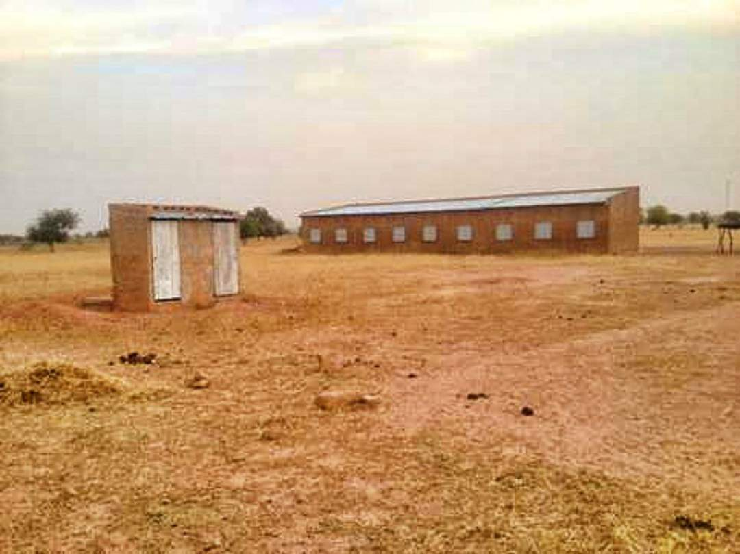 Completed latrines