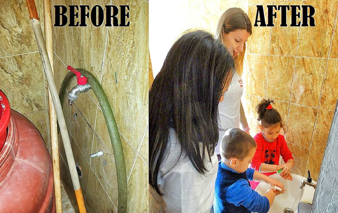 Before and After of the bathroom