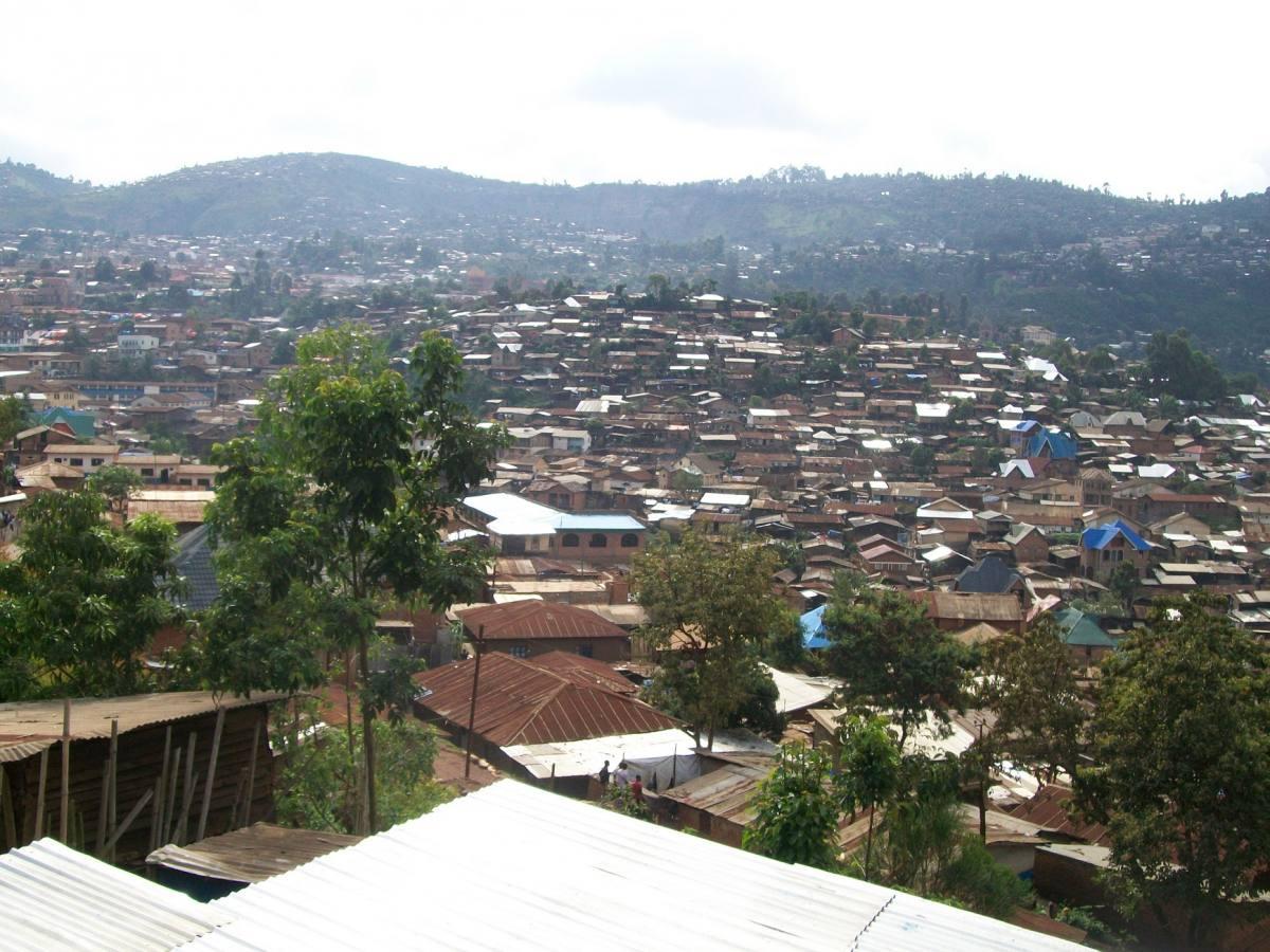 Bukavu neighborhood