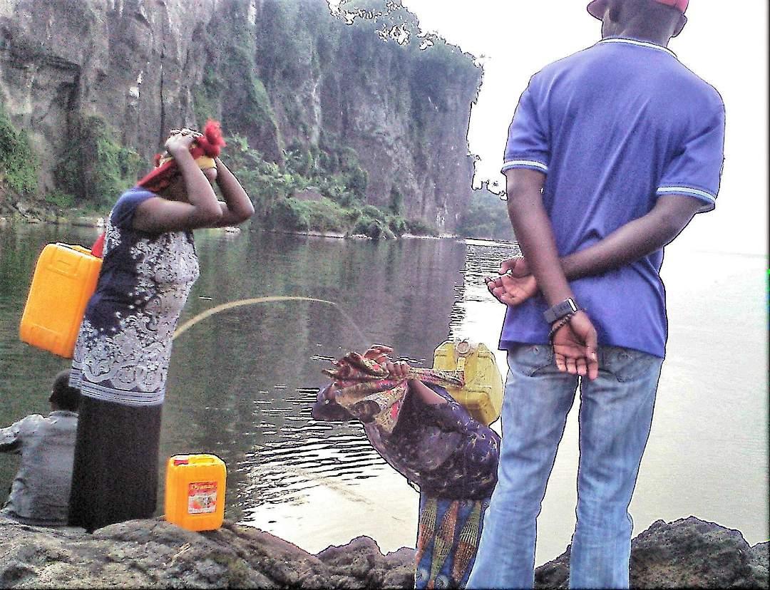 Gathering water in Tanzania