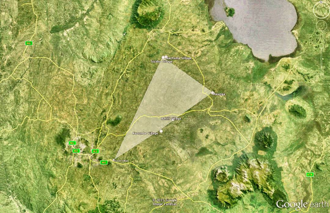 Map of Village X Boreholes