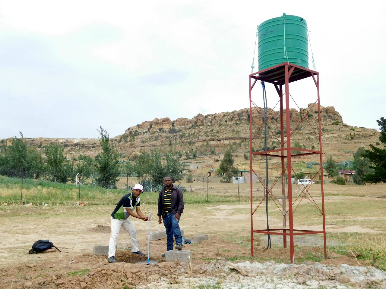 Conclusion of Fobane Borehole Project - Lesotho