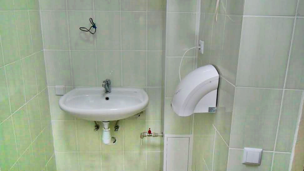Conclusion of Window on America Library Bathroom Project - Ukraine