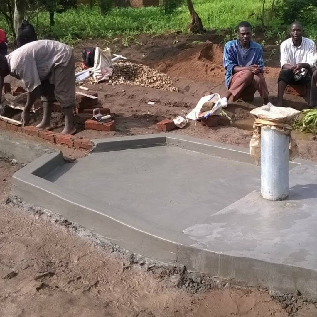 Conclusion Of Mlenga Village Well Project - Malawi
