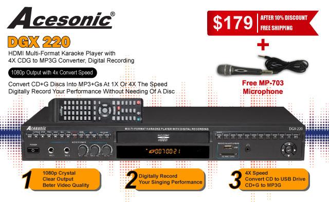Acesonic DGX-220 Banner